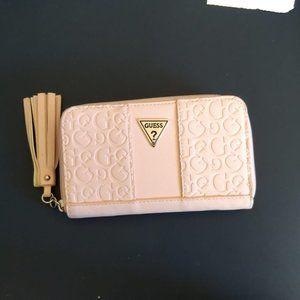 Guess Blush Pink Zip Around Wallet